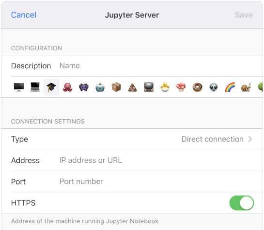 Juno Connect direct connection settings